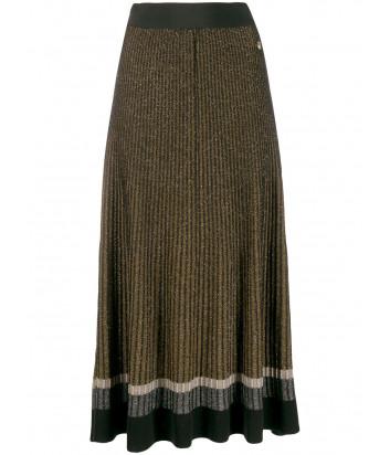 Плиссированная юбка TWIN-SET 192TT3181 черно-золотистая
