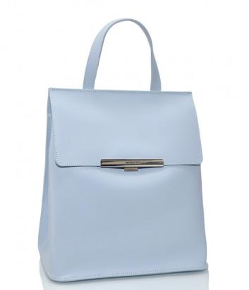 Рюкзак-сумка Lancaster 437-34 в полированной коже голубой