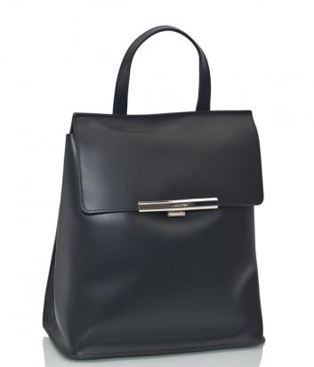 Рюкзак-сумка Lancaster 437-34 в полированной коже черный