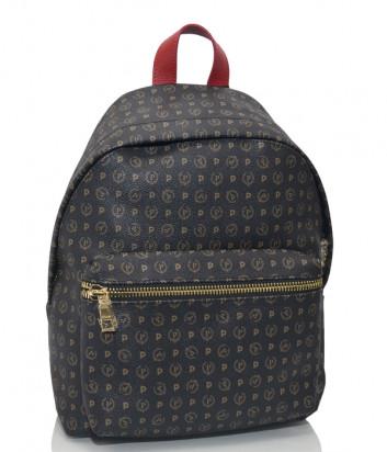 Рюкзак Pollini Q1110 с внешним карманом коричневый и красная ручка