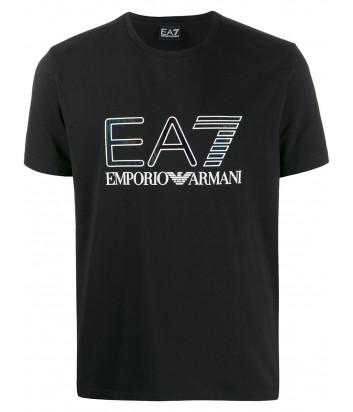 Футболка EA7 Emporio Armani 6GPT14 PJ20Z черная с логотипом