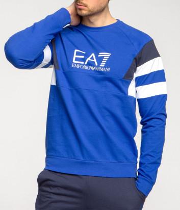 Мужской свитшот EA7 Emporio Armani 3GPM40 PJ05Z сине-белый