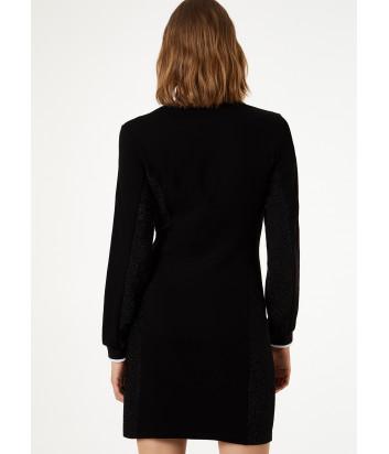 Мини платье Liu Jo T69044F0576 черное с люрексом