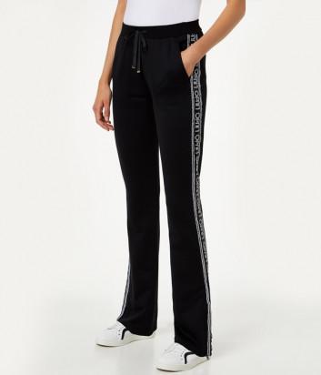Трикотажные брюки Liu Jo T69082F0781 черные расшитые пайетками