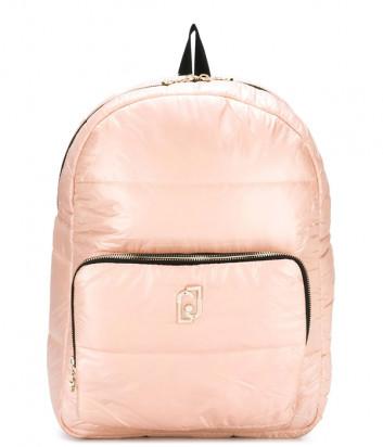 Стеганный рюкзак Liu Jo T69154T0300 с внешним карманом цвета пудры