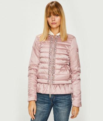 Стеганная куртка Liu Jo L68020T8655 с декором розовая