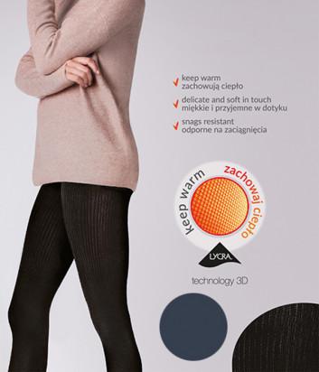 Колготки Gabriella Warm up Fashion 200 den без трусиковой части графитовые