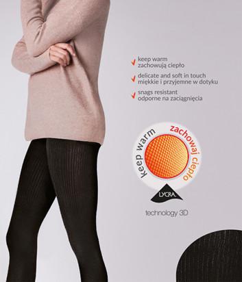 Колготки Gabriella Warm up Fashion 200 den без трусиковой части черные