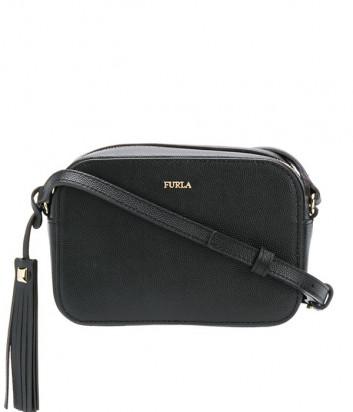Кожаная сумка через плечо Furla Mimi 1045690 черная