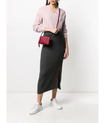 Кожаная сумка через плечо Furla Mimi 1045689 вишневая