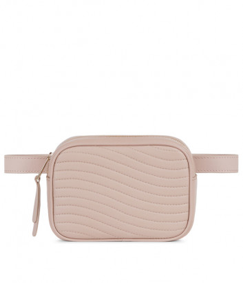 Поясная сумка Furla Swing 1044686 в стеганной коже пудровая