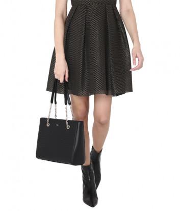 Сумка-шоппер Furla Swing 1049161 в стеганной коже черная