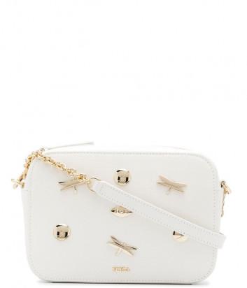 Кожаная сумка Furla Brava 1045175 белая с декором
