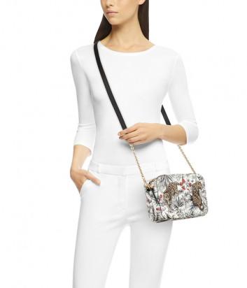 Кожаная сумка Furla Brava 1044888 белая с рисунком