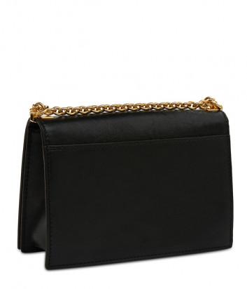 Кожаная сумка на цепочке Furla Mimi 1007413 в гладкой коже черная