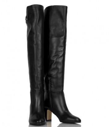 Высокие кожаные сапоги Nina Lilou 282757 черные