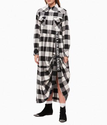 Длинное платье Calvin Klein Jeans J212262 в клетку