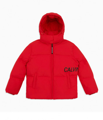 Женский пуховик оверсайз Calvin Klein Jeans J212095 красный