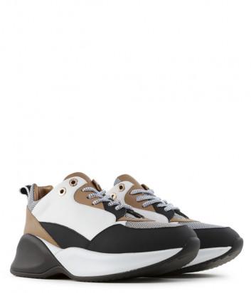 Кожаные кроссовки Alexander Smith 72096 бежевые