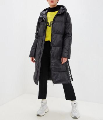 Черная куртка ICE PLAY J0516402 с капюшоном и ремнем