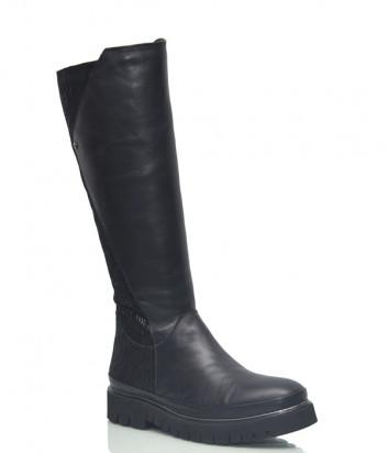 Кожаные сапоги Lab Milano 20606 на меху черные