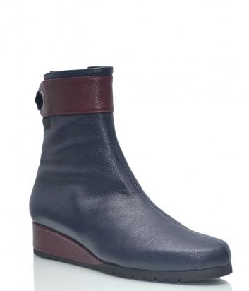 Кожаные ботинки Thierry Rabotin 9724 на меху синие
