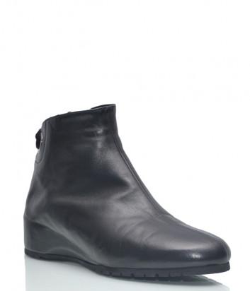Кожаные ботинки Thierry Rabotin 777 на меху черные