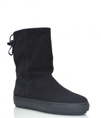 Замшевые ботинки Repo 26301 на меху черные