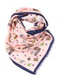 Женский шарф Moschino 03313 розовый