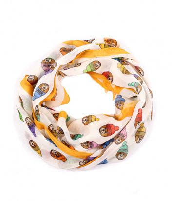 Женский шарф Moschino 3317 молочно-оранжевый