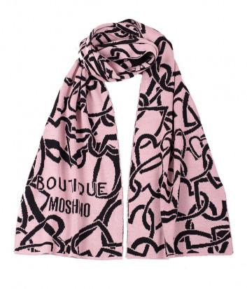 Женский шарф Moschino Boutique 30622 пудровый