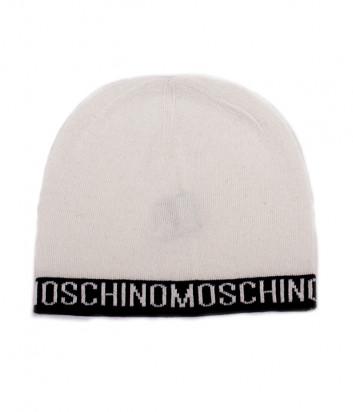 Женская шапка Moschino 65115 белая