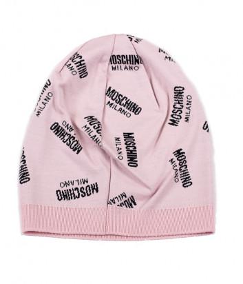 Женская шапка Moschino 65169 пудровая