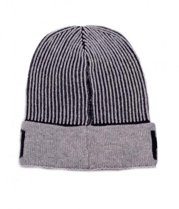 Мужская шапка Moschino 60051 светло-серая