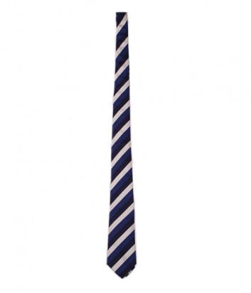 Галстук Moschino 55001 сине-серый