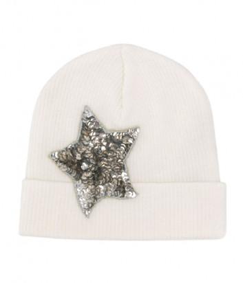 Кремовая шапка P.A.R.O.S.H. Loulux 010510 с декором