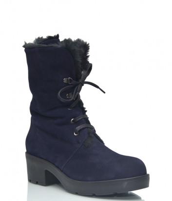 Замшевые ботинки Conni 7108 на меху синие