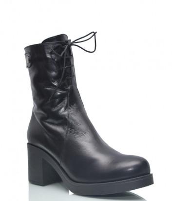 Кожаные ботинки Conni 7112 на меху черные