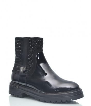 Лаковые ботинки Loretta Pettinari 14939 на меху черные