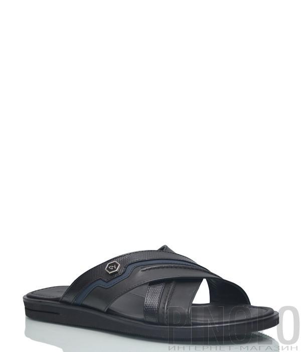 Кожаные шлепанцы Giampiero Nicola 5527 черные