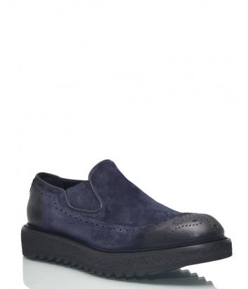 Замшевые туфли Giampiero Nicola 41104 темно-синие