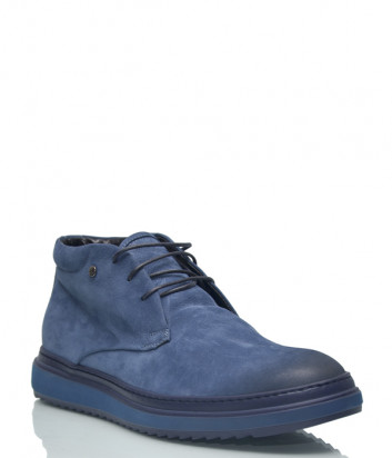 Кожаные ботинки Lab Milano 34904 на меху синие
