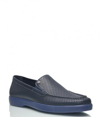 Туфли Lab Milano 41401 в перфорированной коже синие