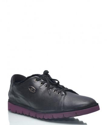 Кожаные туфли Gianfranco Butteri 59018 на меху черные