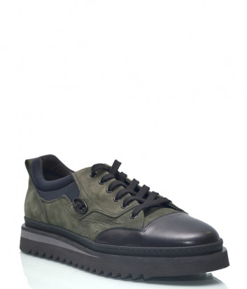 Кожаные туфли Gianfranco Butteri 93541 оливковые