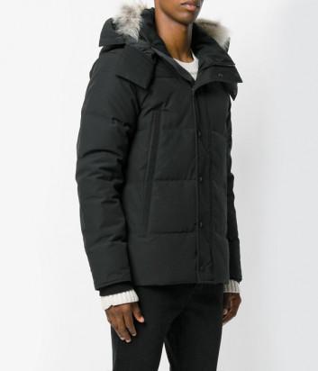 Мужская парка Canada Goose Wyndham с капюшоном черная