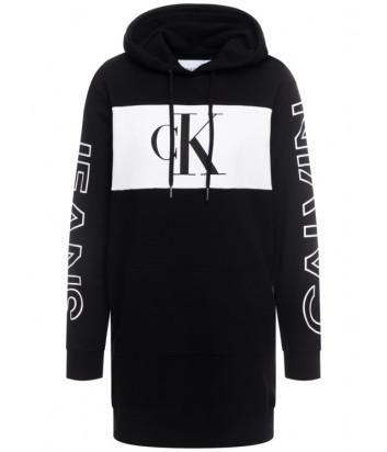 Платье-толстовка Calvin Klein Jeans J20J213278 с капюшоном черное