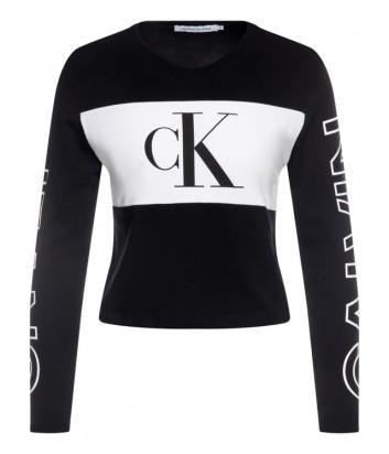Кофта Calvin Klein Jeans J20J213125 черная с лого