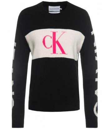 Кофта Calvin Klein Jeans J20J213180 черная с лого