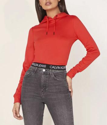 Толстовка с капюшоном Calvin Klein Jeans J20J212892 красная